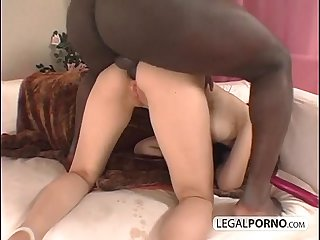 Big black cock fucking a horny brunette in the ass MG-1-01