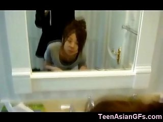 Korean teen gf Quickie in bathroom