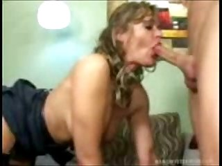 Stepmom cornered and fucked by the son