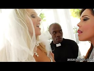 Nice booty brides francesca le and julia ann ass pounded