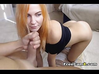 Pretty babe hunry for big dick and sperm