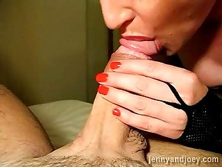 cum gushes into her mouth