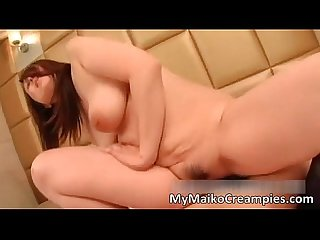 Busty asian hottie loves blowing cock