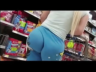 Filmed my sister s ass while shopping