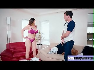 (Sara Jay) Sexy Busty Housewife In Hardcore Sex Tape clip-26