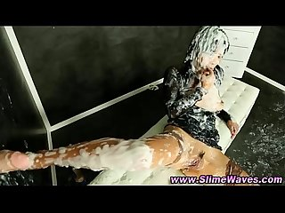 Bukkake glamour slut sliming