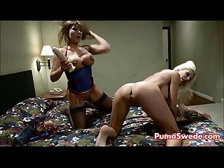 Pizza delivery girl puma swede fucks ava devine with strapon