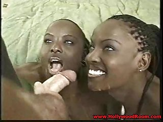 Two Black Ass n 1 White Cock