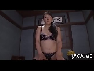 Dissolute japanese mature licks her lover all over his body
