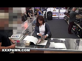 XXX PAWN - Desperate MILF Sells Her Husband's Baseball Cards For Bail Money