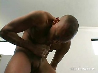 Self sucking his ten inch dick and cumming in his mouth