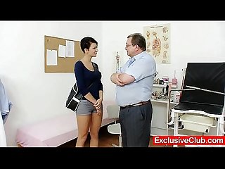 Big tits brunette nicoletta vagina exam by doctor