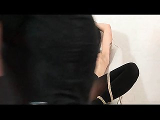 Japanese pussy stapling and extreme dental gagged needle bdsm of asian