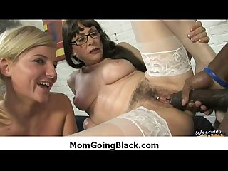Interracial milf porn - Mommy rides black monster cock 18