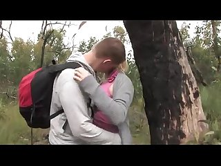Couple fucks in woods