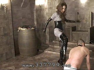 Japanese domina kira keep kicking slave S body
