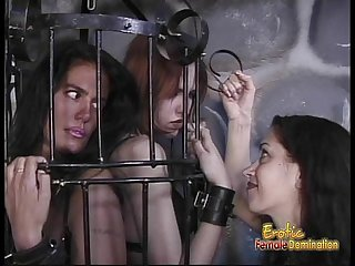 Two delicious sluts get whipped by their smoking hot dominatrix