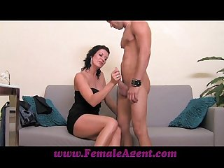 Femaleagent cums to command
