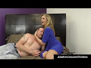FemDom Mistress Ms. Julia Ann Won't Allow Her Hubby To Cum!