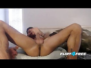 Brett king flirt4free straight hunk plays with his ass and monster cock