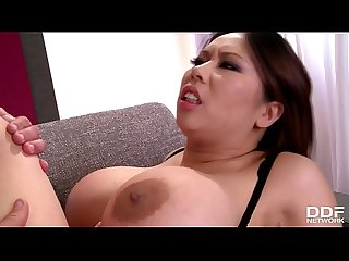 Absolutely mind blowing busty asian milf tigerr benson fucks two big cocks