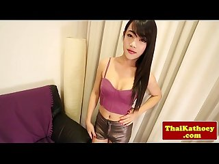 Thickcock ladyboy stripteasing and wanking