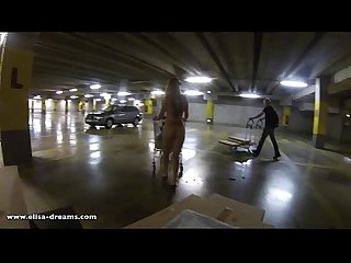Flashing naked in ikea parking