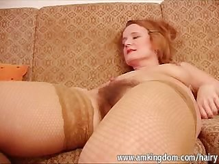 Mature hairy ivana toys both holes