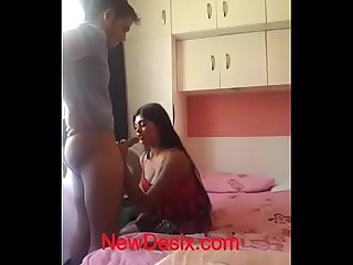 Desi GF sucking BF big dick
