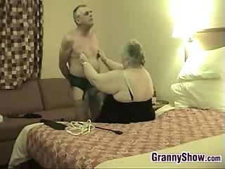 Kinky granny and her husband having fun