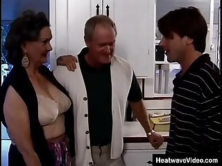Old husband offers his mature wife to a young student