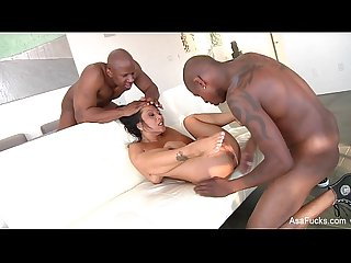 Asa akira gets fucked by big black cocks
