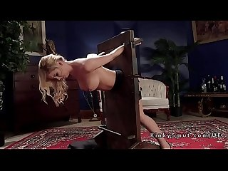Petite asian and busty blonde in bdsm threesome