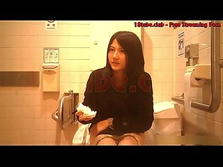 Asian beautiful girl peeing toilet voyeur