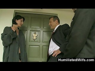 Humiliatedmilfs milf reporter roxanne hall fucks sucks for a scoop