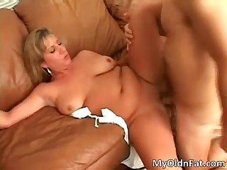 Horny big boobed blonde slut takes