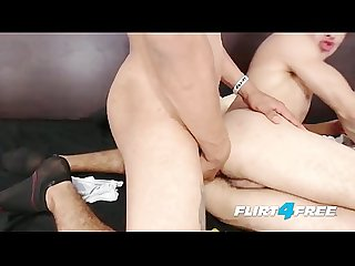 Ripped Hunks Valentin and Derek Use Anal Beads and Bareback