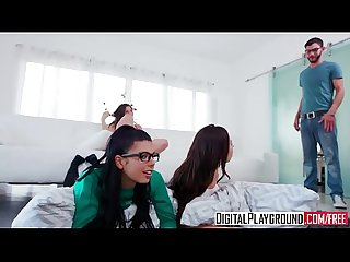 XXX Porn video - Slumber Party Abella Danger Gina Valentina Melissa Moore Logan Long