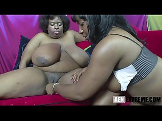 Black bbw lesbian with saggy tits fucked by her best friend