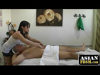 Asian massages a big dick for for extra cash