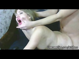 Caught on cam my horny gf swallows my cum