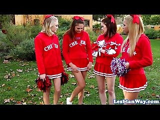 Les cheerleaders fourway fun after pratice