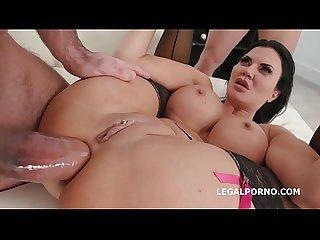 Fucking wet 4on1 with jasmine jae balls deep dap squirting asshole