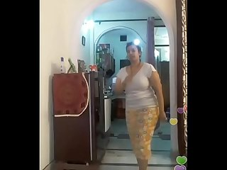 Hot Desi Indian bhabi shaking her sexi ass boobs on bigo live 2