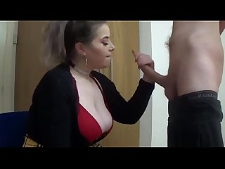 Barely legal schoolgirl deepthroats and fucks big cock for a facial ameliaskye