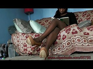 Desire's First Ever Pantyhose Footjob