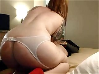 Hot redhead milf on real homemade