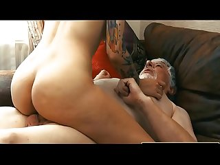 Young Teen Blonde Fucked by Old man tight pussy cock