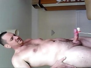 very intense orgasm using vibrating bullet on my cock and prostate massager