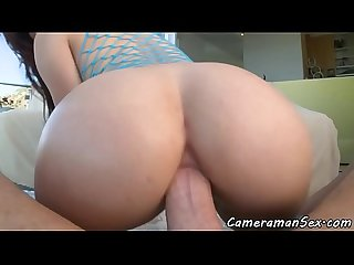 Roundass babe pov fucked after deepthroat